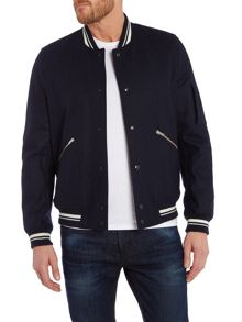 Paul Smith Jeans Wool Varsity Zip Up Jacket