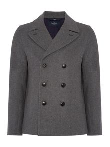 Paul Smith Jeans Double Breasted Heavyweight Peacoat