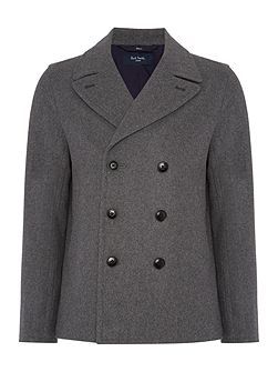 Men's Paul Smith Jeans Double Breasted Heavyweight Peacoat