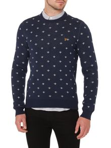 Farah Coppice fairisle crew neck jumper