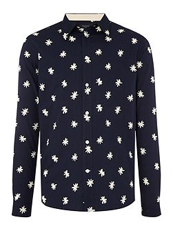 Tailored Fit LongSleeve Star Print Shirt