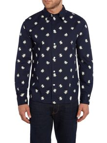 Paul Smith Jeans Tailored Fit LongSleeve Star Print Shirt