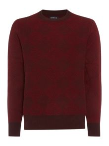 Howick Diamond bay crew neck jumper