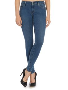 Super mid waist skinny jean in pacific drive