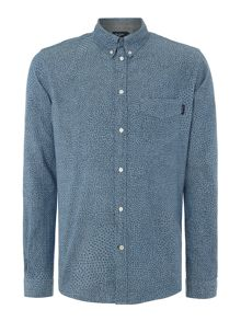 Tailored Fit Chambray Mosaic Shirt