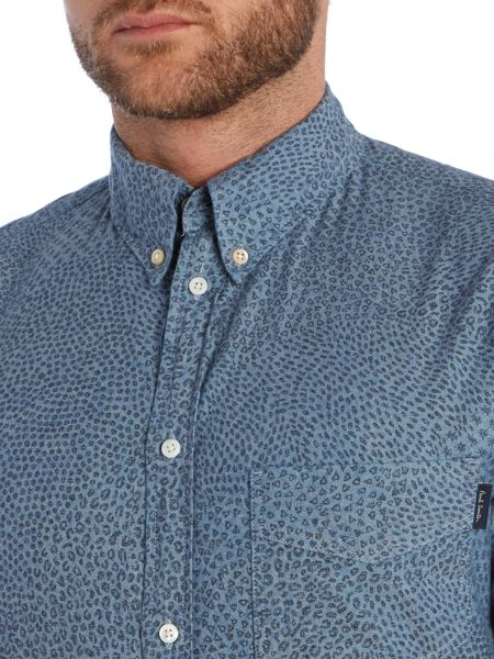 Paul Smith Jeans Tailored Fit Chambray Mosaic Shirt