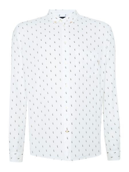 Paul Smith Jeans Tailored Fit Printed Oxford Shirt
