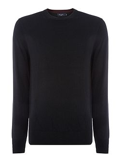 Crew Neck Cotton Merino Knitted Jumper