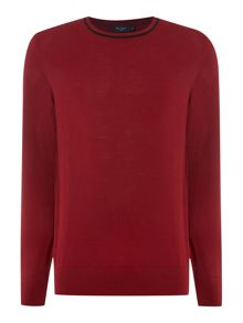Paul Smith Jeans Crew Neck Tipped Collar Knitted Jumper
