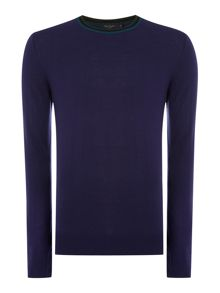 Paul Smith Jeans Triple Tip Collar Merino Knitted Jumper