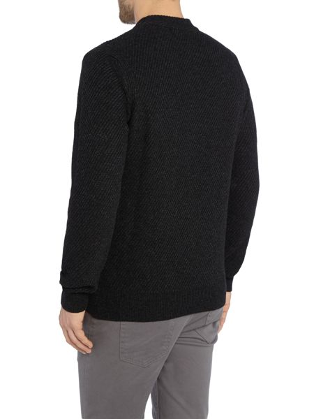 Paul Smith Jeans Crew Neck Chunky Twill Knitted Jumper