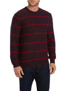 Paul Smith Jeans Crew Neck Striped Knitted Jumper