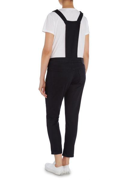 Levi's Black tab overall dungarees in black worn