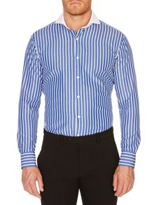 Chester Barrie Stripe Tailored Fit Long Sleeve Shirt