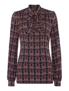 Therapy Paisley pussybow blouse