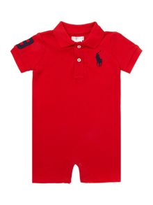 Polo Ralph Lauren Boys short sleeve banner stripe all in one