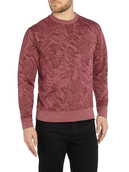 Paul Smith Jeans Regular Fit All Over Print Sweatshirt