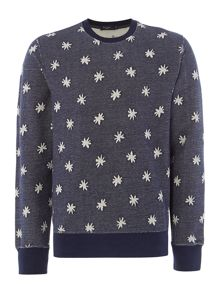 Star Jacquard Print Revirsible Sweatshirt