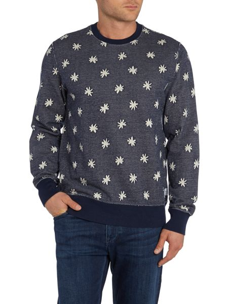 Paul Smith Jeans Star Jacquard Print Revirsible Sweatshirt