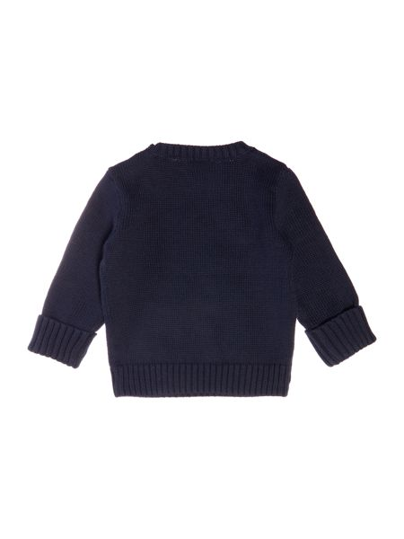 Polo Ralph Lauren Boys crew neck jumper with teddy bear feature