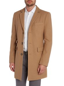 Farah Askern wool blend overcoat