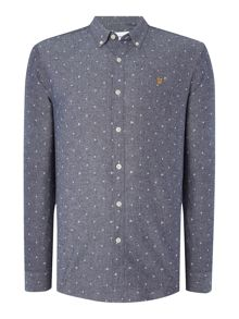 Farah Mite slim fit chambray shirt