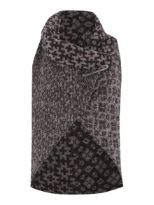 Knitted pattern gilet