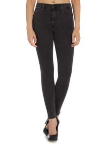 Ringer line 8 high waist skinny jean in greyscape