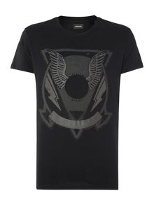 T-Clar Regular Fit Wings Graphic T Shirt