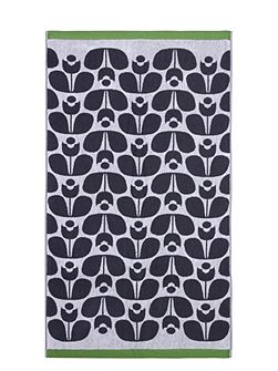 Wallflower Jacquard Bath Towel in Slate