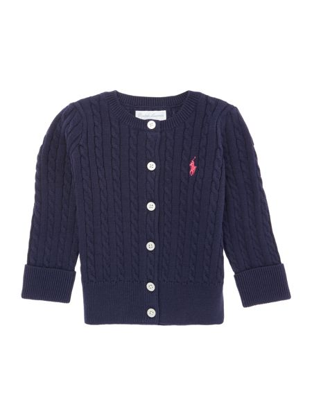 Polo Ralph Lauren Girls Knitwear Long Sleeved Cable Cardigan