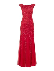 Adrianna Papell Cap sleeve beaded dress