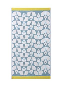 Wallflower Jacquard Hand Towel in Duck Egg