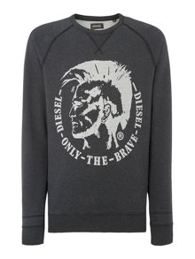 Diesel S-Orestes Mohican Graphic Sweatshirt