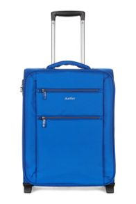 Aeon blue 2 wheel soft cabin suitcase