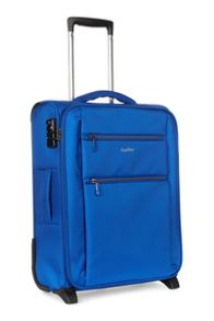 Antler Aeon blue 2 wheel soft cabin suitcase