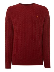 Kirtley crew neck cable knit jumper