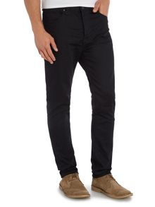 Neuw Ray pure black tapered fit jean