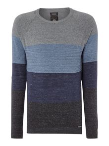 Diesel K-Calib Crew Neck Striped Knitted Jumper