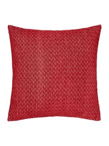 Linea Jacquard weave chenille cushion, red