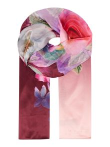 Ted Baker Pure peony silk long scarf