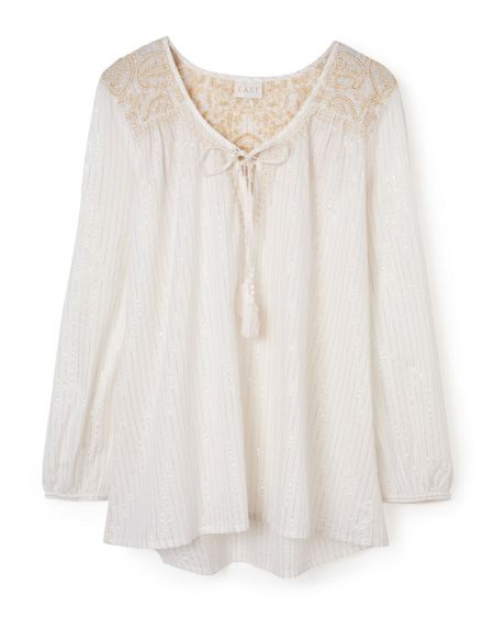 East Embroidered Lurex Blouse