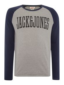 Track & Field Large Logo Crew Neck Top