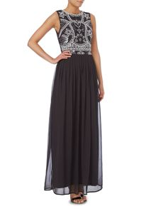 Sleeveless Beaded Top Maxi Dress