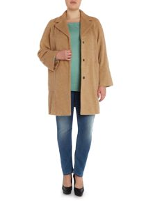 Oversize pocket wool coat