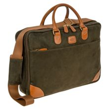 Brics Life olive 2 handle briefcase