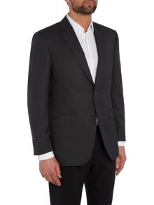 Single Breasted Semi Plain Squares Suit