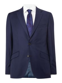 Simon Carter Single Breasted Sharkskin Suit Jacket