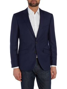 Simon Carter Single Breasted Slim Sharkskin Peak Suit