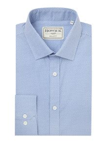 Howick Tailored Bellevue Geo Print Shirt